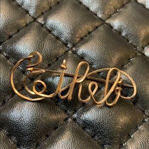 VTG Victorian Gold Filled Ethel Monogram Brooch